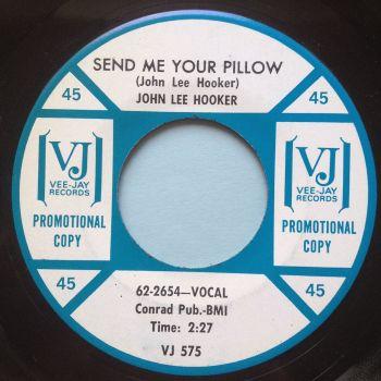 John Lee Hooker - Send me your pillow - Vee Jay promo - Ex-