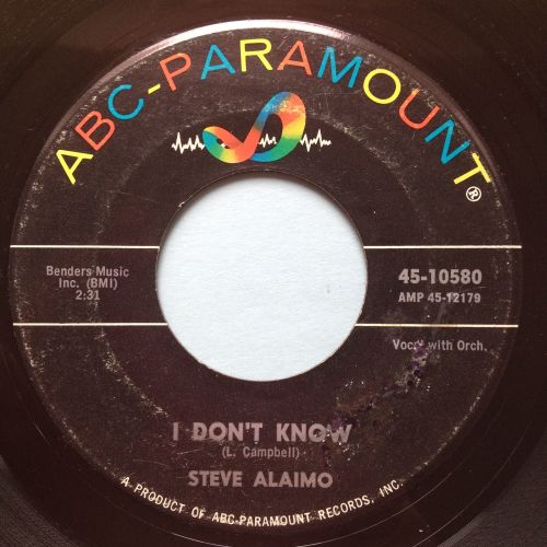 Steve Alaimo - I don't know b/w That's what love will do - ABC - Ex-