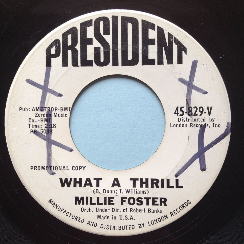 Millie Foster - What a thrill - President promo - VG+
