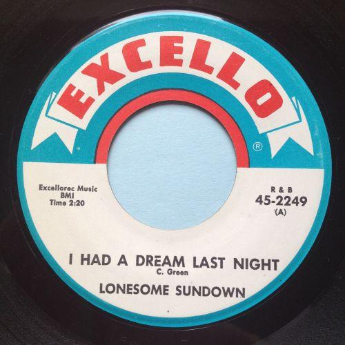 Lonesome Sundown - I had a dream last night - Excello - Ex