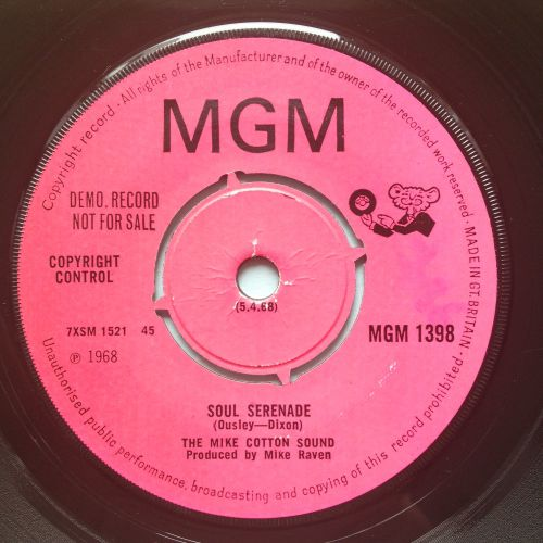 Mike Cotton Sound - Soul Serenade - UK MGM promo - VG+