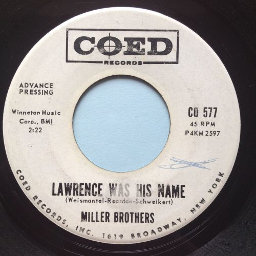 Miller Brothers - Lawrence was his name - Coed promo - Ex-
