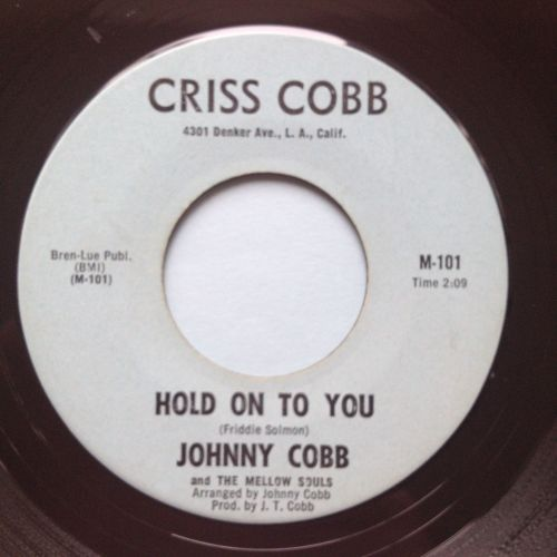 Johnny Cobb - Hold on to you - Criss Cross - Ex