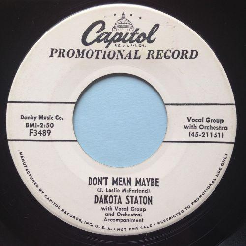 Dakota Staton - Don't mean maybe - Capitol promo - Ex