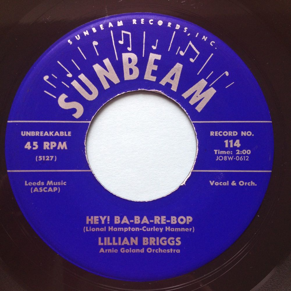 Lillian Briggs - Hey! Ba-Ba-Re-Bop - Sunbeam - Ex