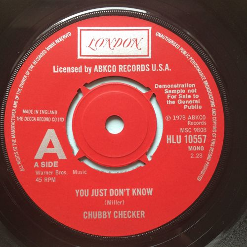 Chubby Checker - You just don't know - UK London Demo - Ex