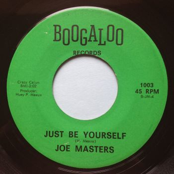 Joe Masters - Just be yourself - Boogaloo - Ex