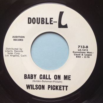 Wilson Pickett - Baby call on me - Double L promo - Ex