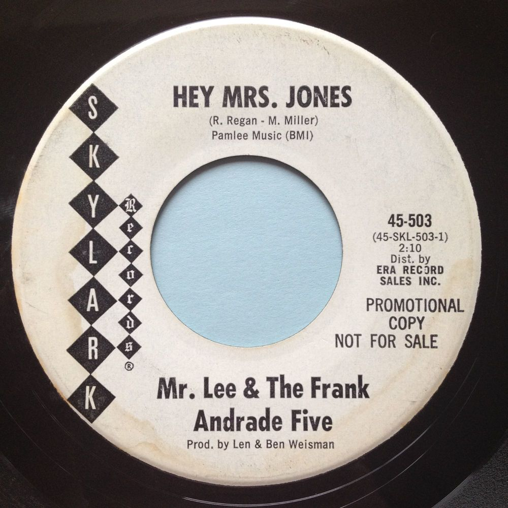 Mr. Lee & the Frank Andrade Five - Hey Mrs Jones b/w Let the for winds blow
