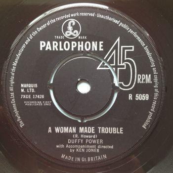 Duffy Power - Woman mad trouble b/w hey girl - UK Parlophone - Ex