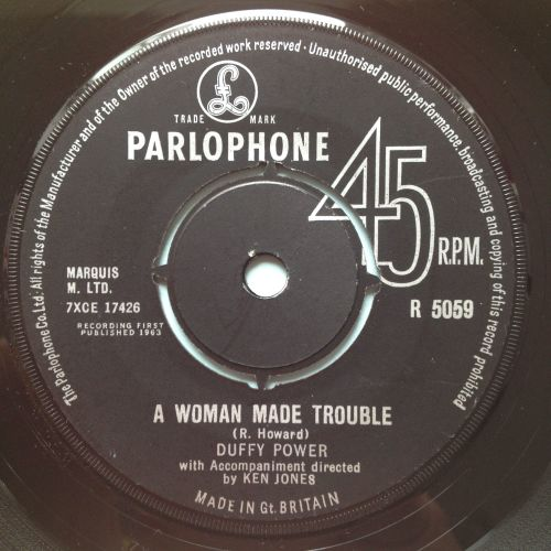 Duffy Power - Woman mad trouble b/w hey girl - UK Parlophone - Ex