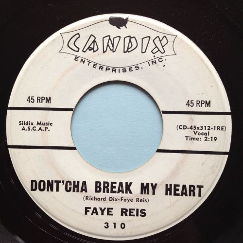Faye Reis - Dont'cha break my heart - Candix promo - Ex