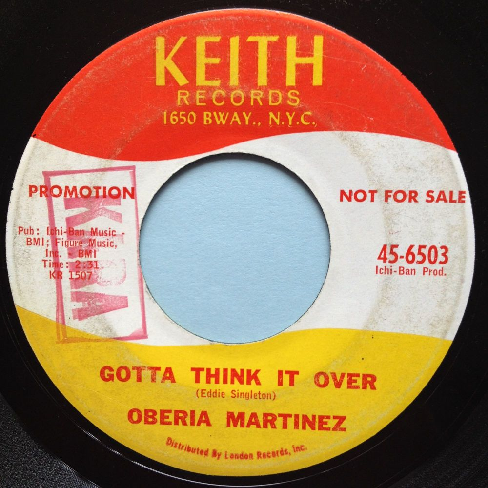 Oberia Martinez - I gotta think it over - Keith - VG+