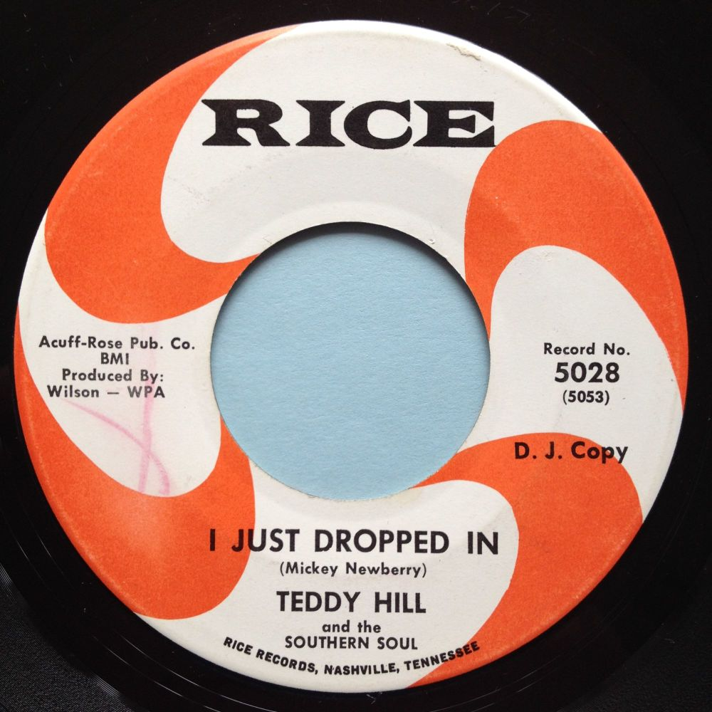 Teddy Hill and the Southern Soul - I just dropped in - Rice - Ex
