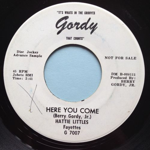 Hattie Littles - Here you come - Gordy promo - VG+