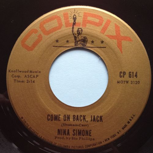 Nina Simone - Come on back Jack - Colpix- Ex