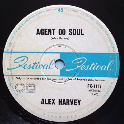 Alex Harvey - Agent 00 Soul b/w Go 'Way Baby - Festival (Australian) - VG+