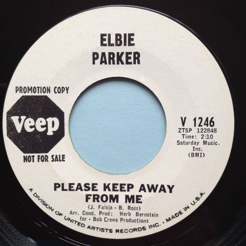 Elbie Parker - Please keep away from me b/w Lucky guy - Veep promo - Ex