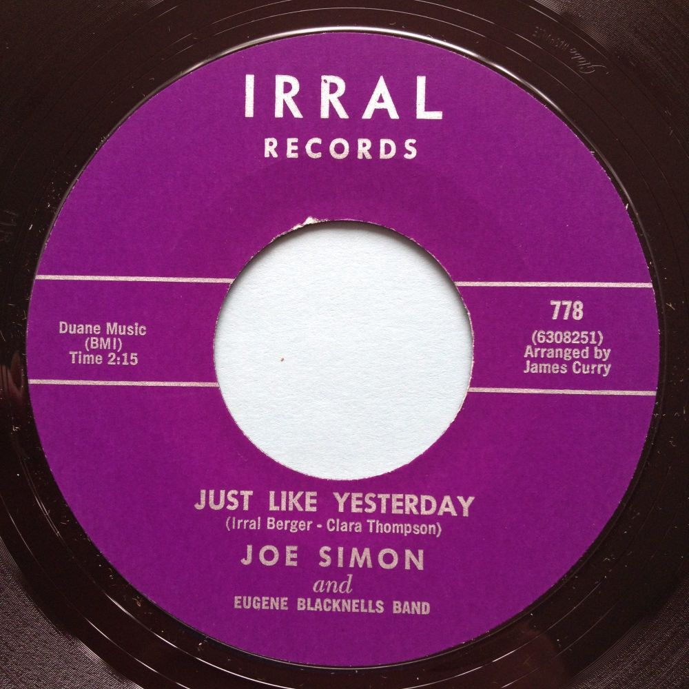 Joe Simon - Just like yesterday - Irral - M-