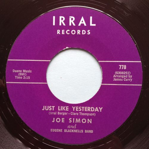 Joe Simon - Just like yesterday - Irral - M-