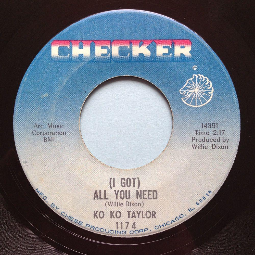 Ko Ko Taylor - (I got) All you need - Checker - Ex-