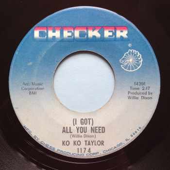 Ko Ko Taylor - (I got) All you need - Checker - Ex-