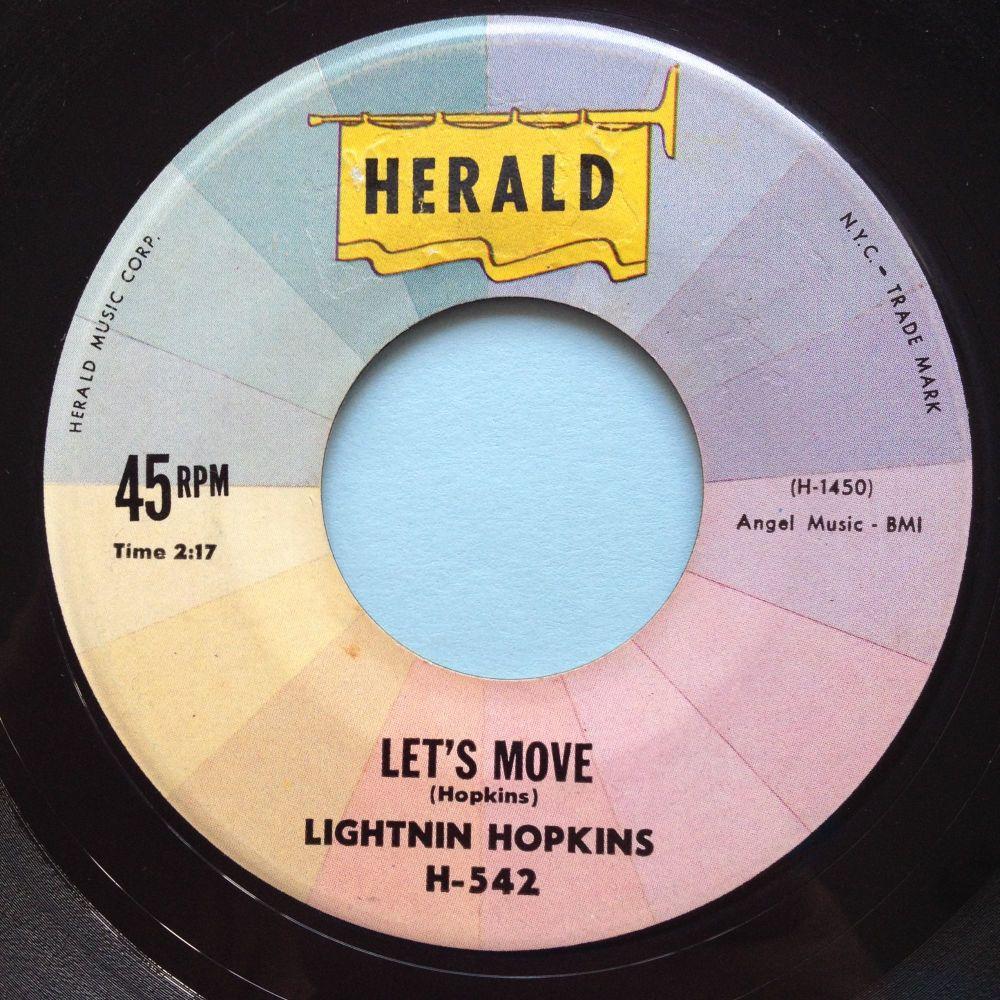 Lightnin Hopkins - Let's Move - Herald - Ex