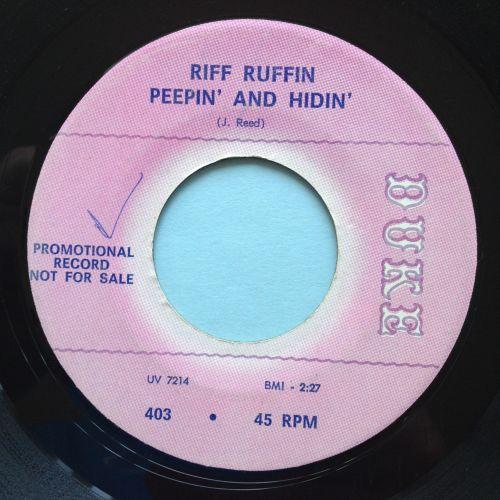 Riff Ruffin - Peepin' and Hidin' - Duke promo - Ex-