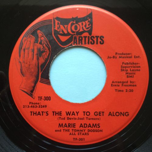 Marie Adams - That's the way to get along - Encore - Ex