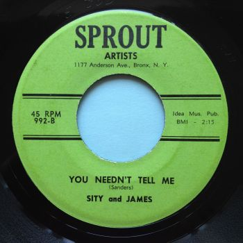 Sity and James - You needn't tell me - Sprout - M-