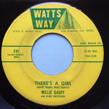 Willie Gauff - There's a girl - Watts Way - Ex-
