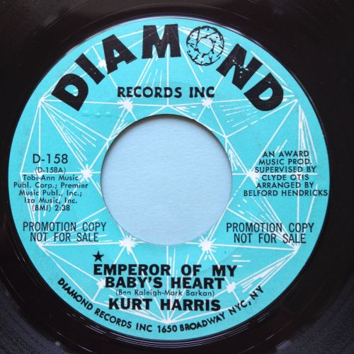 Kurt Harris - Emperor of my baby's heart - Diamond promo - Ex