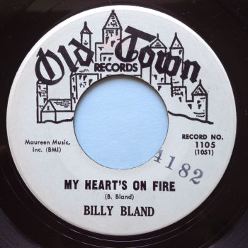 Billy Bland - My heart's on fire - Old Town promo - Ex