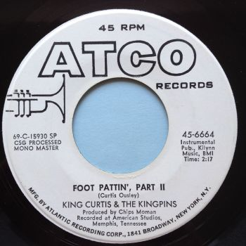 King Curtis & the Kingins - Foot Pattin' Pt.2 - Atco promo - Ex