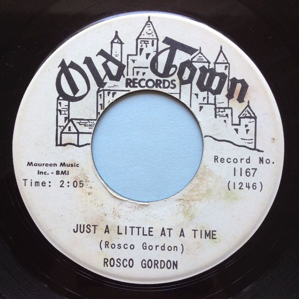 Rosco Gordon - Just a little at a time - Old Town promo - Ex