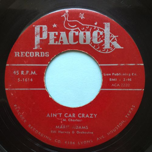 Marie Adams - Ain't car crazy - Peacock - VG+