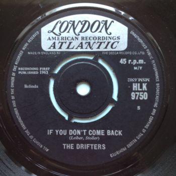 Drifters - If you don't come back b/w Rat race - UK London - Ex