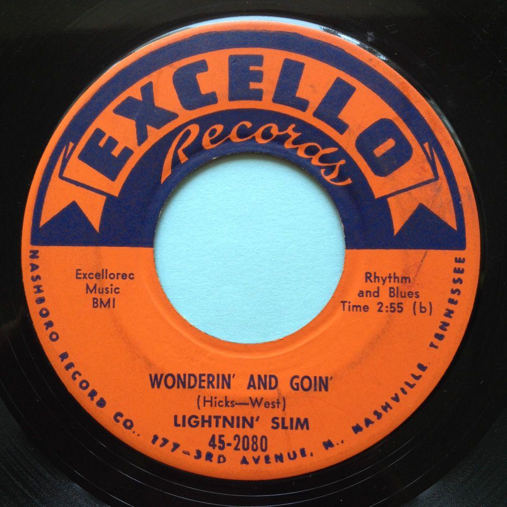Lightnin' Slim - Wonderin' and Goin' b/w Goin' home - Excello - VG+