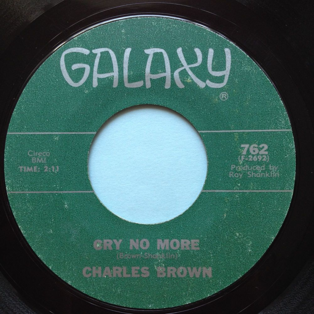 Charles Brown - Cry no more - Galaxy - Ex-