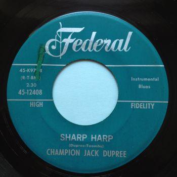 Champion Jack Dupree - Sharp Harp - Federal - Ex