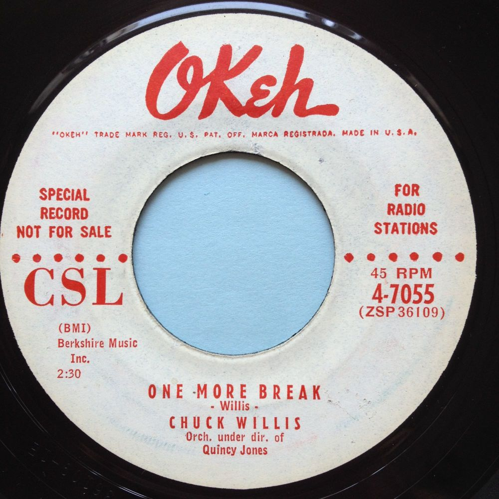Chuck Willis - One more break - Okeh promo - Ex