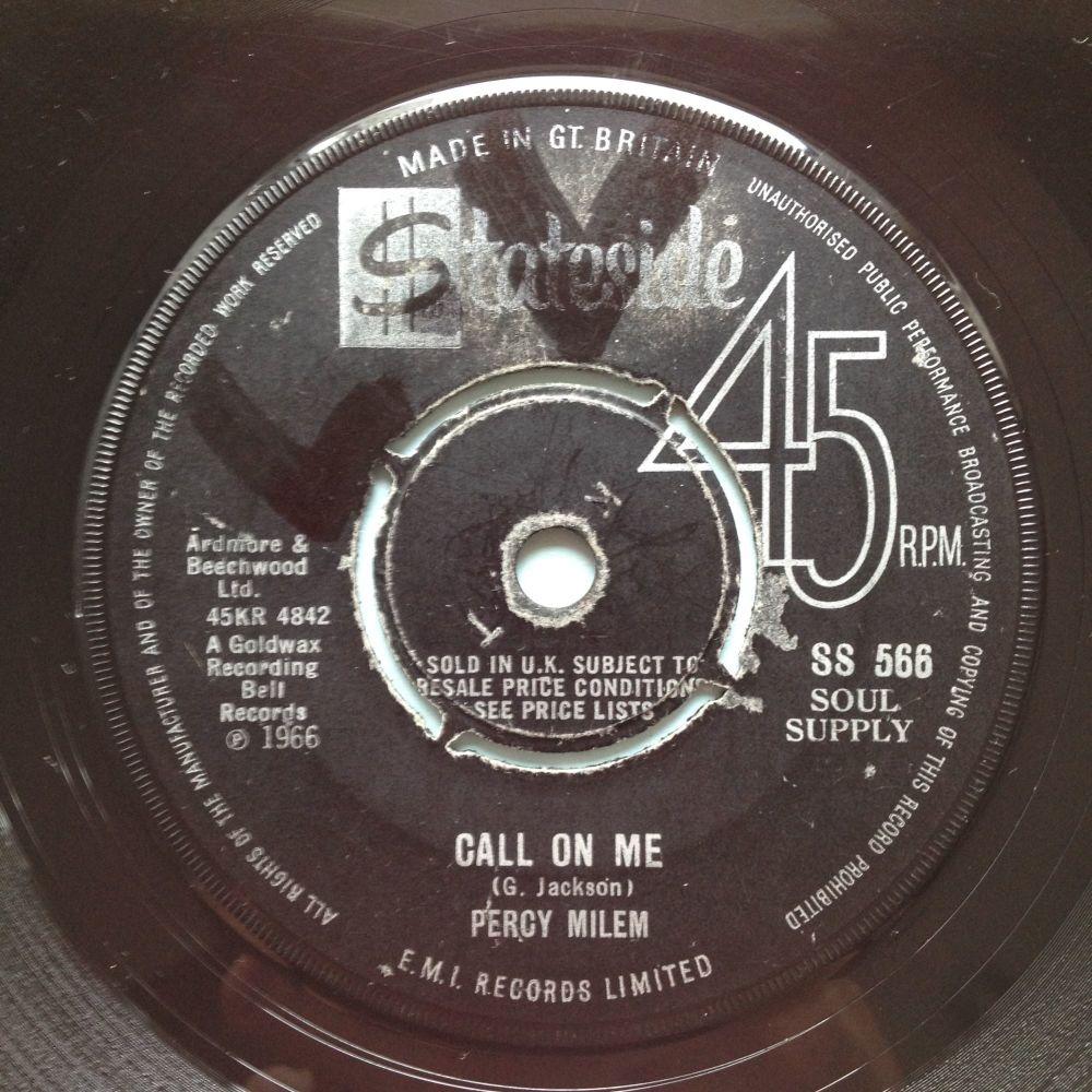 Percy Milem - Call on me - UK Stateside - VG+