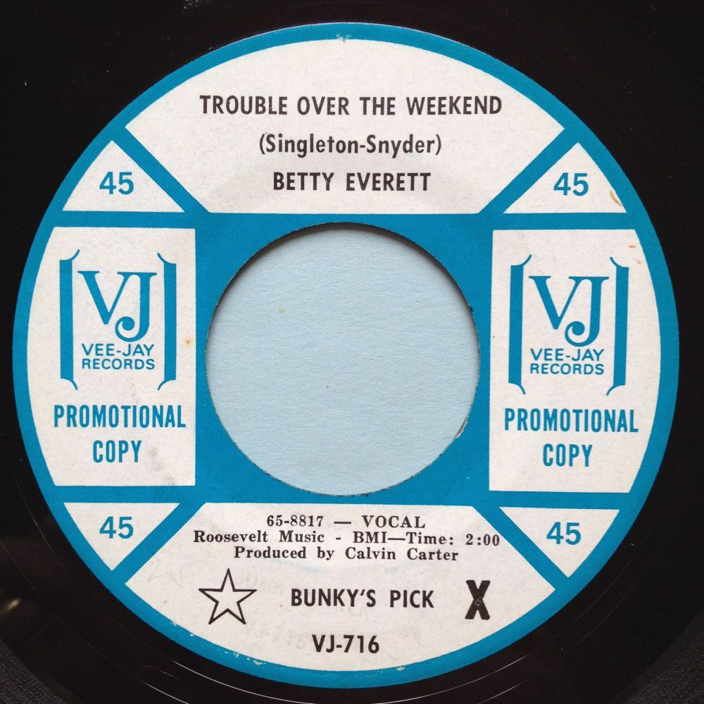 Betty Everett - Trouble over the weekend - VJ promo - Ex