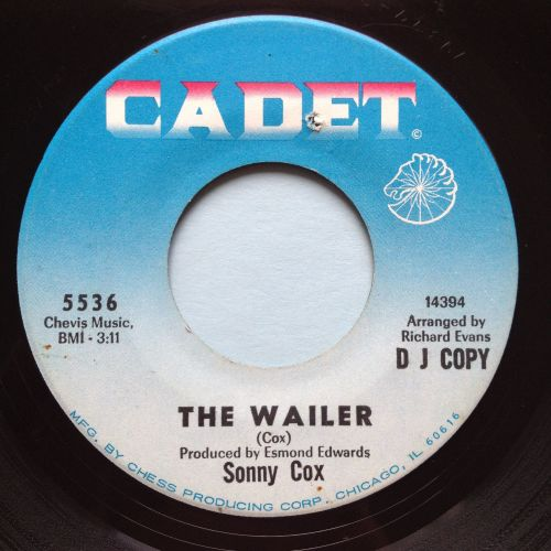 Sonny Cox - The Wailer - Cadet promo - VG+