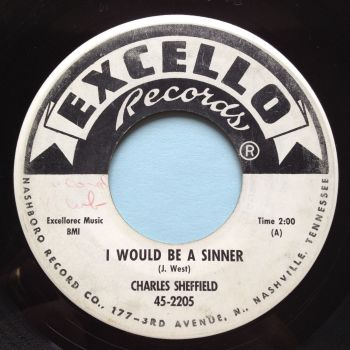 Charles Sheffield - I would be a sinner - Excello promo - VG+