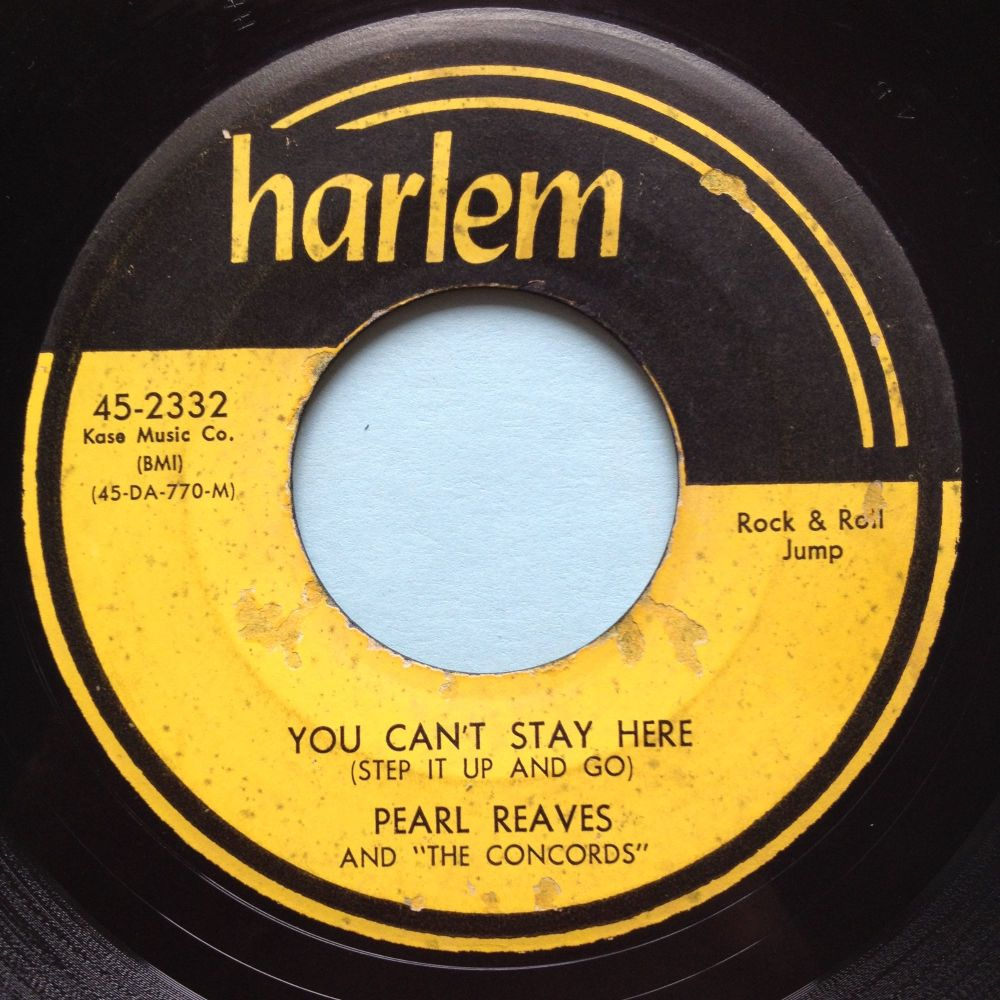 Pearl Reaves - You can't stay here (step it up and go) - Harlem - Ex