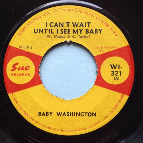 Baby Washington - I can't wait until I see my baby - UK Sue (noc) - VG+