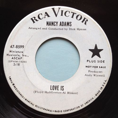 Nancy Adams - Love is - RCA promo - Ex