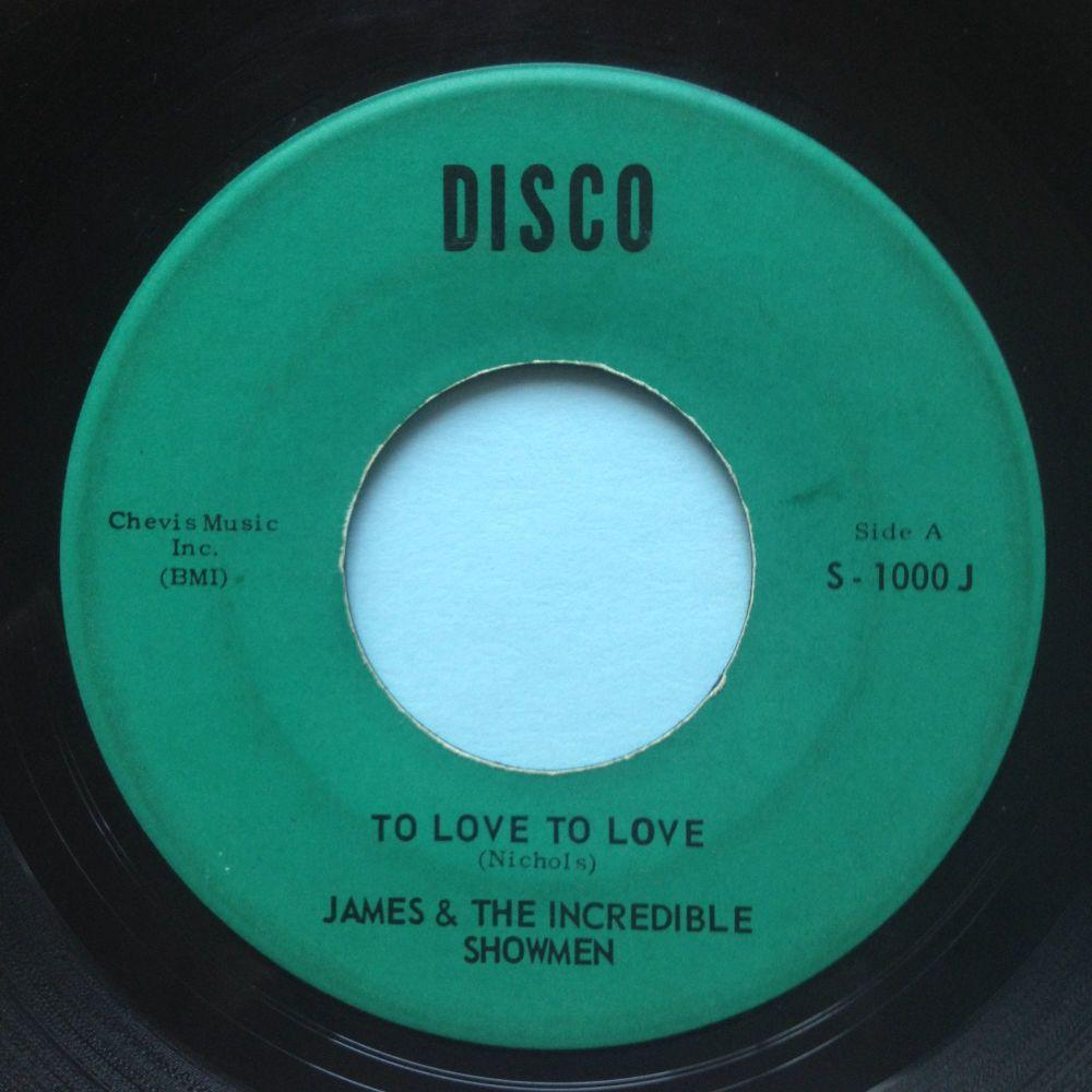 James & the Incredible Showmen - James Brown Boo-Ga-Loo - Disco - Ex