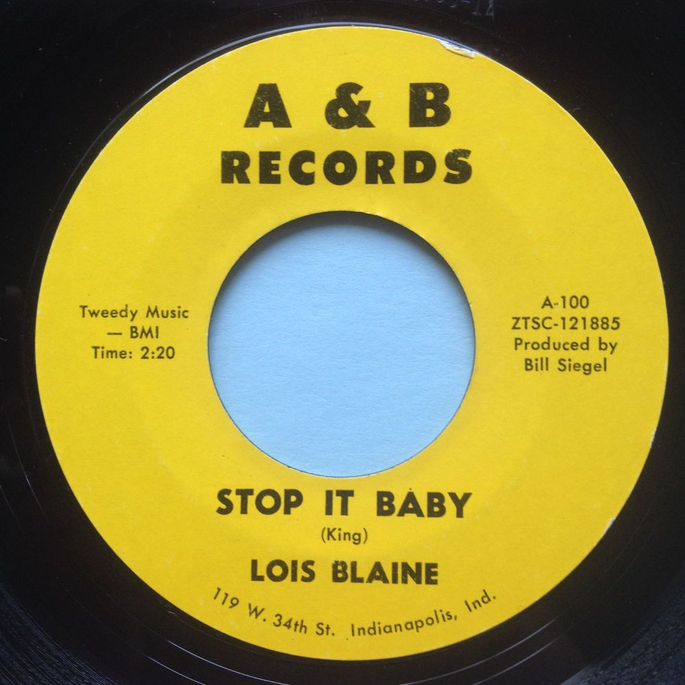 Lois Blaine - Stop it baby - A&B - VG+
